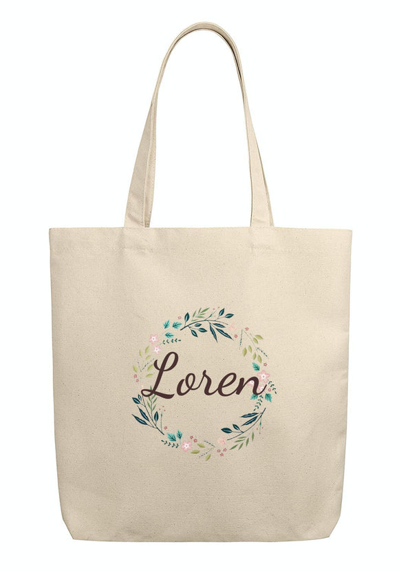 Custom Name Printed Tote Bags