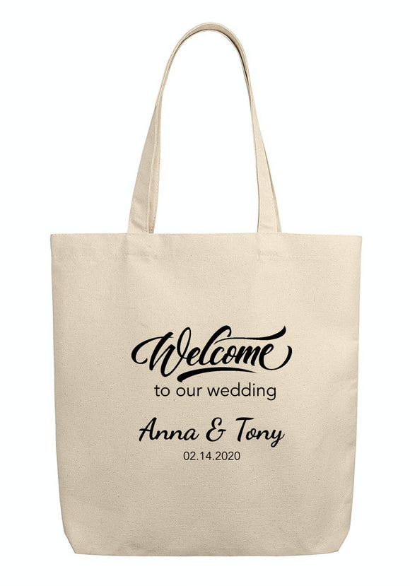 Wedding Tote, Personalized Wedding Tote, Wedding Tote Bag, Wedding Welcome Bag, Wedding Guest Bag,