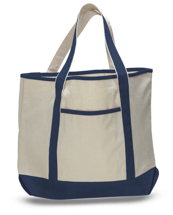 Large City Shopper Bag in Canvas Fabric