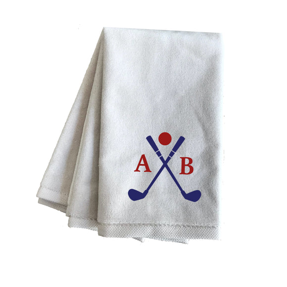 Pergee Custom Personalized Terry velour Golf Towels, Sport Towels with Corner Grommet & Hook