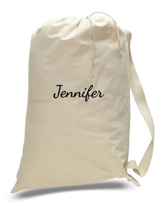 Personalized Canvas Cotton Laundry Bags