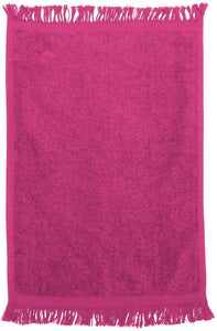 "wholesale Economy 12 Pack Fingertip Towels in bulk With Fringe, 11"" x 18"""