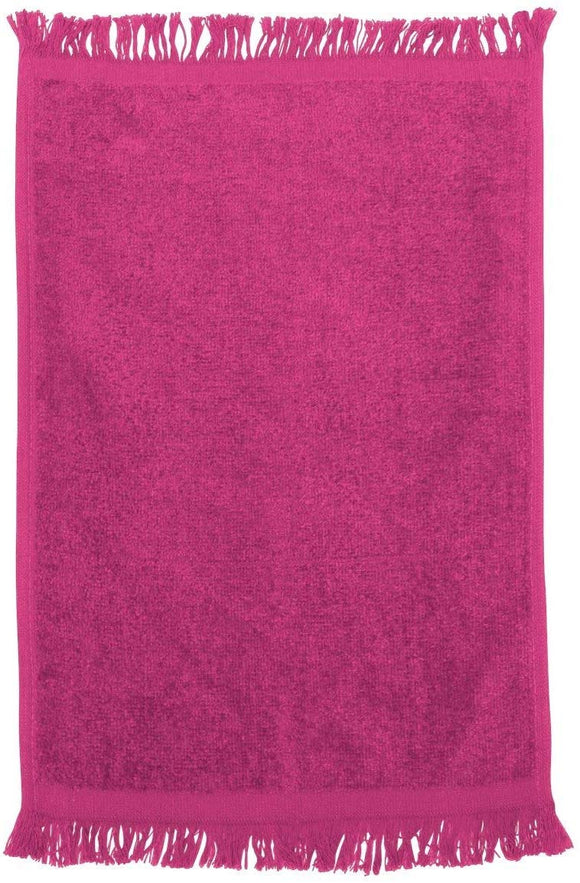 12 Pack Pink Color Velour Fingertip Guest Towels in Bulk, 11