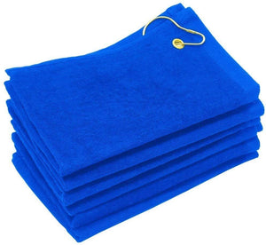 wholesale Royal Velour Fingertip Golf Towels with Corner Grommet & Hook bulk