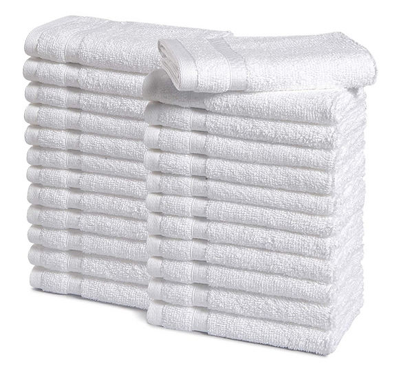 White Terry Cotton Fingertip Guest Towels wholesale