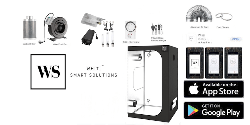 600w HPS, 1.2m X 2M Tent, Whiti Smart Grow Kit Whiti Smart Solutions