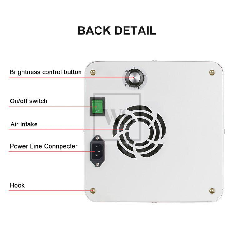 E3590WC-200W Hydroponic LED Grow Light Wifi Control LED Lights Whiti Smart Solutions
