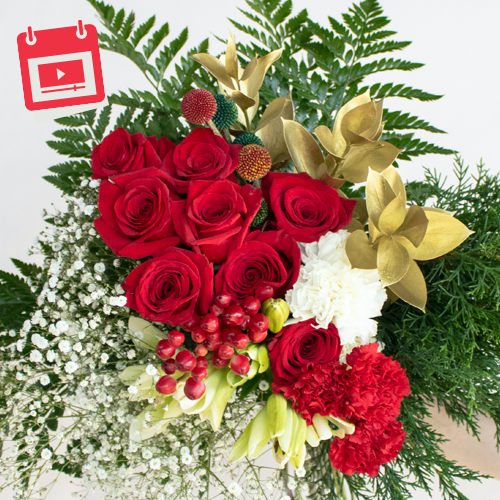 Festive Holiday Flowers Virtual Design Class and Kit