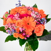 Get Pumped Orange Flower Arrangement