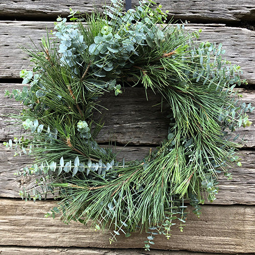 green wreath from monthly subscription