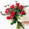Stars and Stripes Red White and Blue Flowers Arrangement