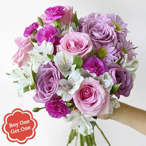 BFF Lavender and Pink Flower Bouquet