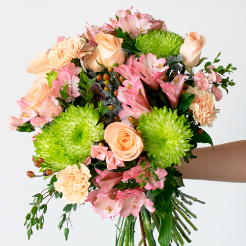 Think of Me Peach Flower Bouquet