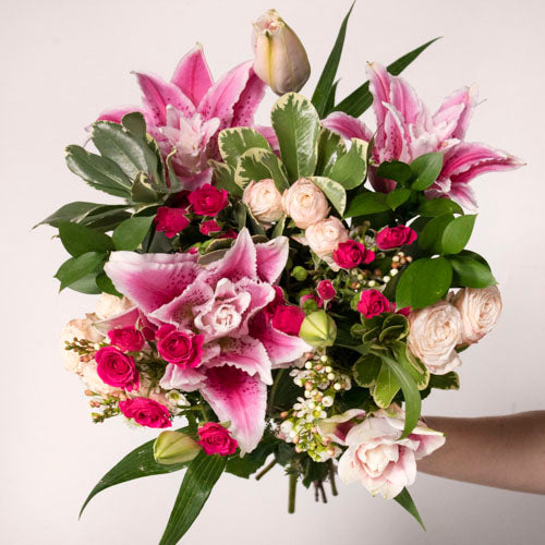 Say Yes Pink Lily Bouquet