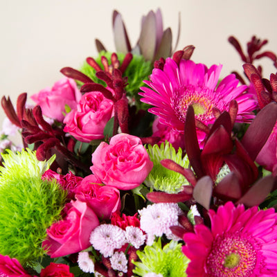 Fun and Playful Pink Flower Arrangement