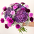 Starry Sky Purple Carnation Bouquet