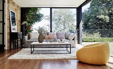 MCM House furniture in Lavender Bay home