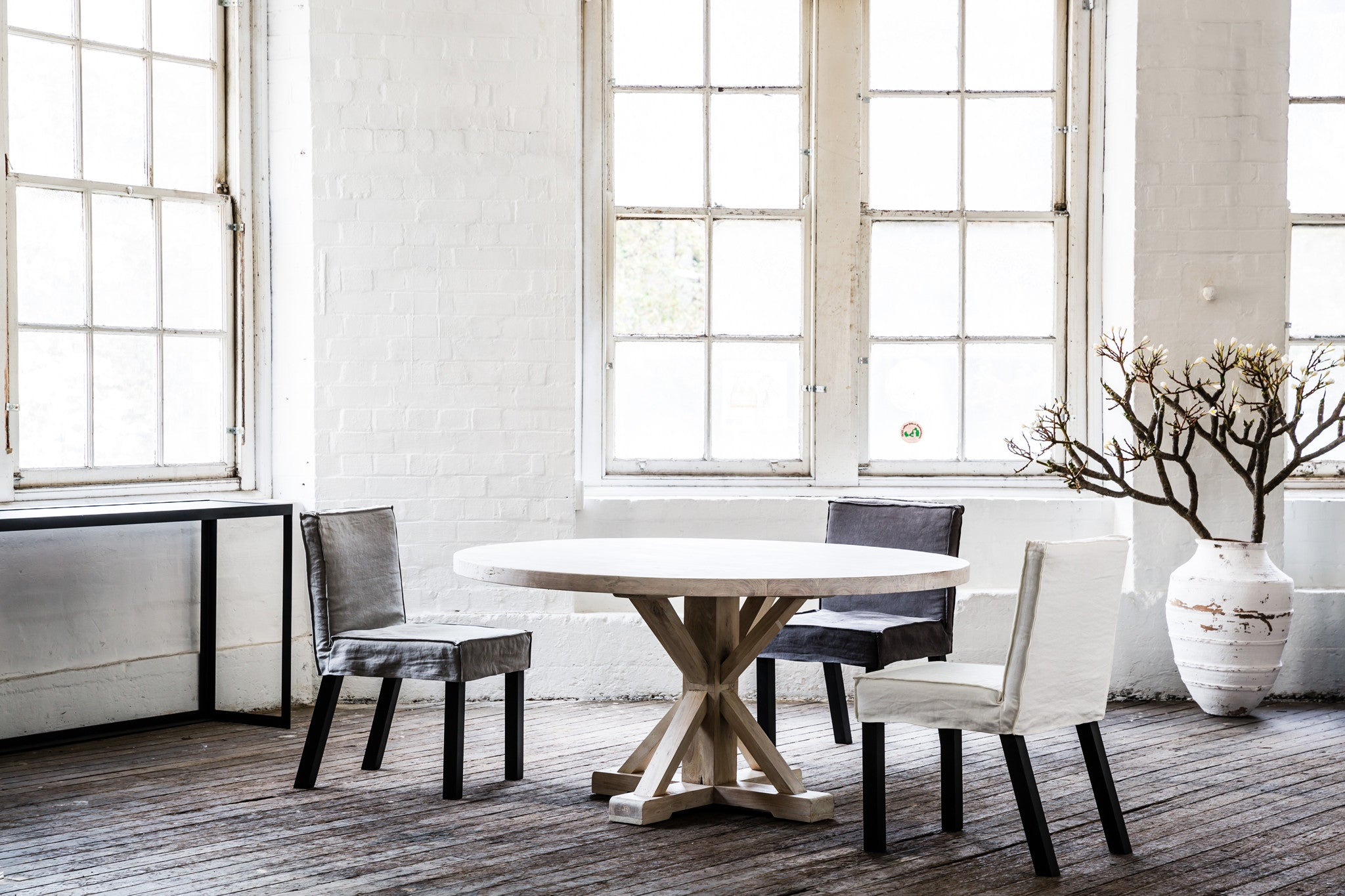 Circular Timber Dining Table Bruges Style Mcm House