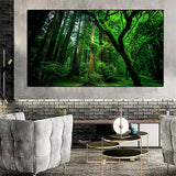 Tableau nature verte grand format