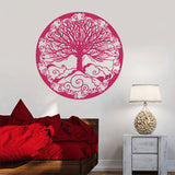 Sticker mural arbre rose
