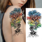 tatouage arbre ephemere