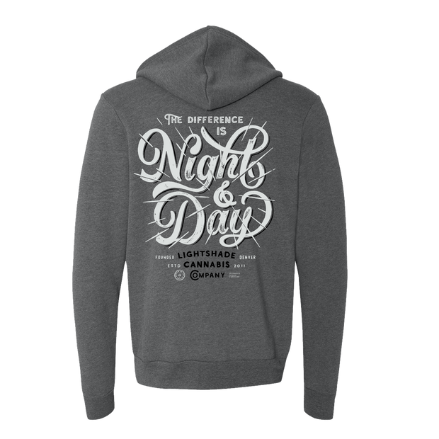 Night And Day Deep Heather Hoodie