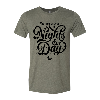 Night And Day Military Green and Black Tee