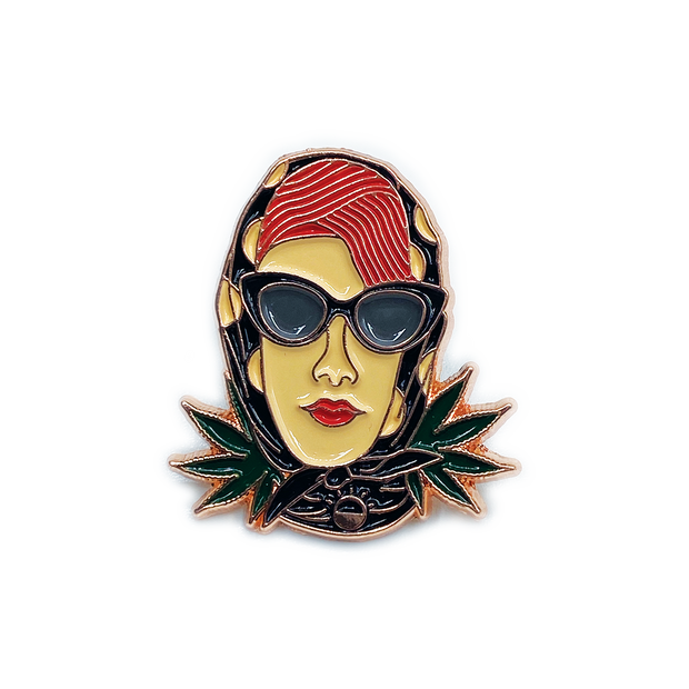Red Headed Stranger Enamel Pin