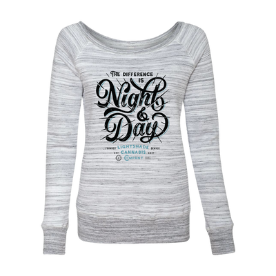 Women's Night And Day Wide Neck Marble Sweater