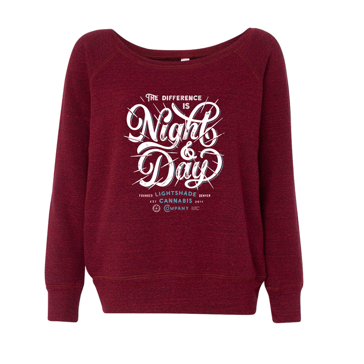 Women's Night And Day Wide Neck Cardinal Sweater