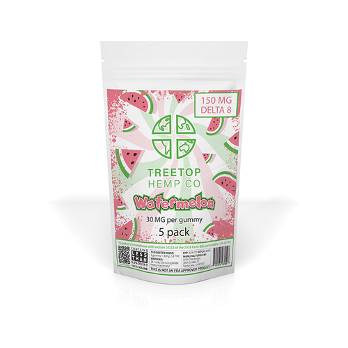 Treetop Hemp Co - Delta 8 Watermelon Gummies - 5 pack