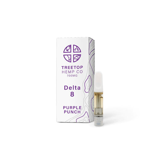 Treetop Hemp Co – Delta 8 Cartridge 700mg Purple Punch