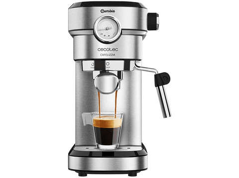 Cafetera express - Cecotec Cafelizzia 790 Steel Pro, 20 bar, 1350 W, Sistema Thermoblock, Inox