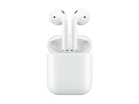 Auriculares inalámbricos - Apple AirPods 2, Bluetooth, Lightning, Chip H1, Siri, Blanco