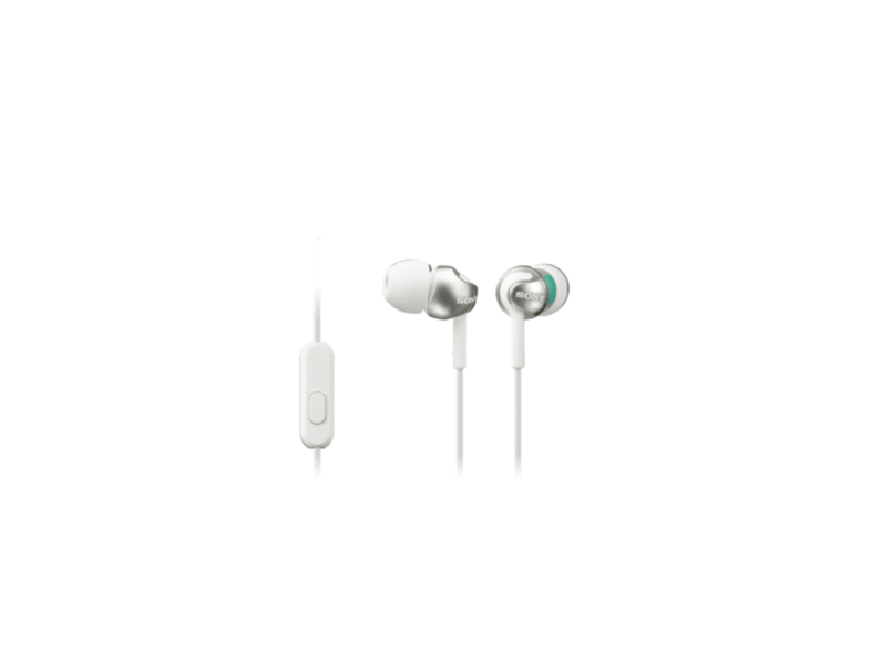 Auriculares botón - Sony MDR-EX110APW.CE7 Blanco, 103dB, Especial Android