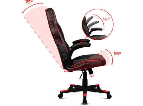 Silla Gaming - Drift DR75, abatible 15º, reposabrazos regulable, Negro y azul