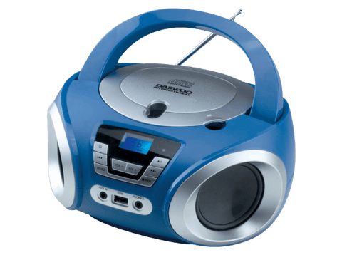 Radio CD - Daewoo DBU-050BL, Puerto USB, Sintonizador digital, Reproductor MP3, Azul