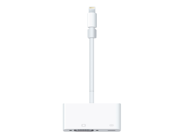 Adaptador Lightning a VGA - Apple MD825ZM/A, dispositivos Apple, color blanco