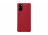Funda - Samsung Leather Cover, para Samsung Galaxy S20+, Piel, Rojo