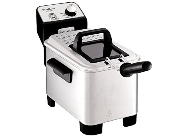 Freidora - Moulinex EASY PRO 3L, 1.2 kg, 2300W, Zona fría, Temperatura regulable, Inox