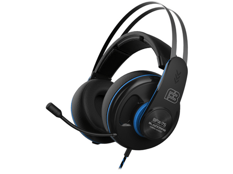 Auriculares gaming - Ardistel Blackfire Gaming Headset BFX-75, Cable 1.1 m, Micrófono, PS4, Negro y azul