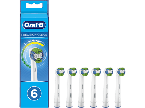 Recambio para cepillo dental - Oral-B, Precision Clean, con Tecnología CleanMaximiser, Pack De 6, blanco