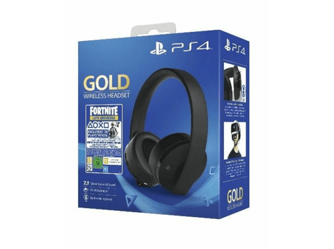 Auriculares gaming - Sony PS4 Gold Wireless Headset + Voucher Fortnite