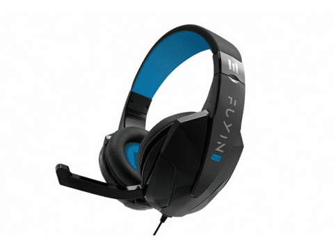 Auriculares Gaming - Indeca New Fuyin 2.0, Diadema ajustable, Para PS4, PC, MAC, Xbox One, Switch, Negro