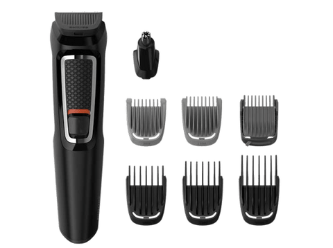 Afeitadora - Philips Multigroom Series 3000 MG3730/15, Multifunción, 8 en 1, 60 min, Seco y húmedo