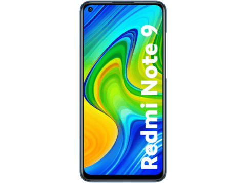 Móvil - Xiaomi Redmi Note 9, Negro, 128 GB, 4 GB, 6.53