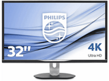 Monitor - Philips 328P6VUBREB, 31.5 Ultra HD 4K, HDR, 4 ms, LowBlue, MultiView, USB-C, HDMI, Negro