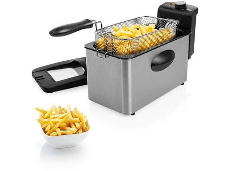 Freidora - Princess 182604 Deep fryer, 3 L, 2000 W, Acero inoxidable
