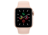 Apple Watch Series 5, Chip W3, 40 mm, GPS + Cellular, Caja aluminio oro, Correa deportiva rosa arena