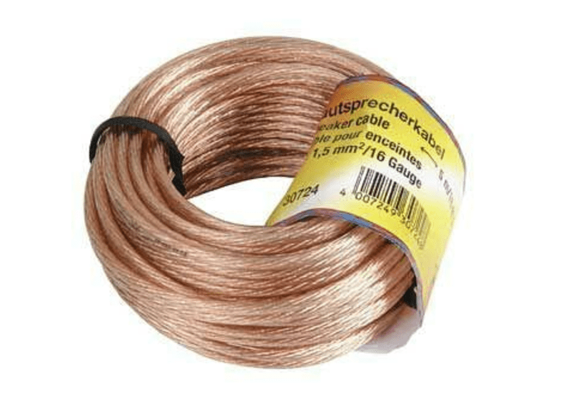 Cable de audio - Hama 00030725, 10m, Transparente